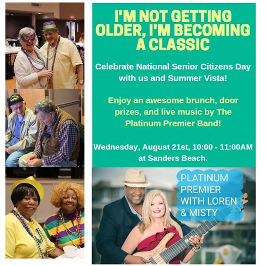 flier celebrating national senior citizens day
