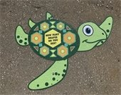 Turtle decal on the sidewalk at Morris Court Park