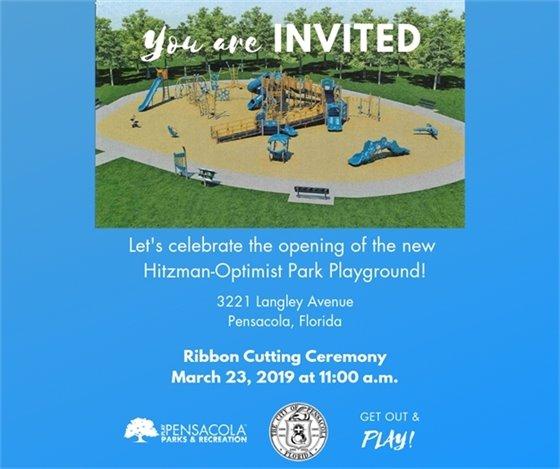 Hitzman-Optimist Park Playground Ribbon Cutting Rescheduled