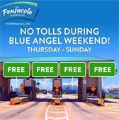 No Bob Sikes Bridge tolls during blue angel weekend Thursday through Sunday