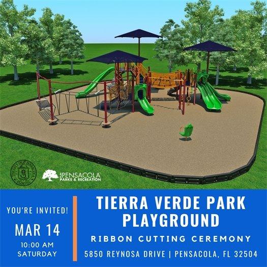 Tierra Verde Park Playground Ribbon Cutting Ceremony Invitation