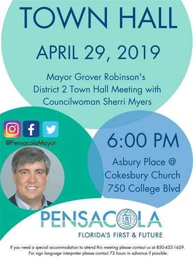 Flyer for District 2 town hall
