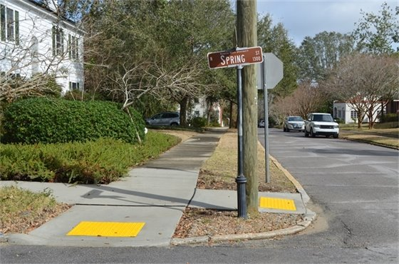 ADA sidewalk improvements at Spring Street and Lloyd Street