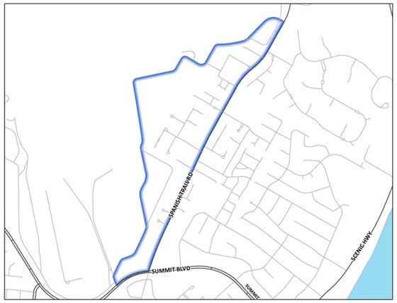 Map of Sept. Mayor's Neighborhood Cleanup.