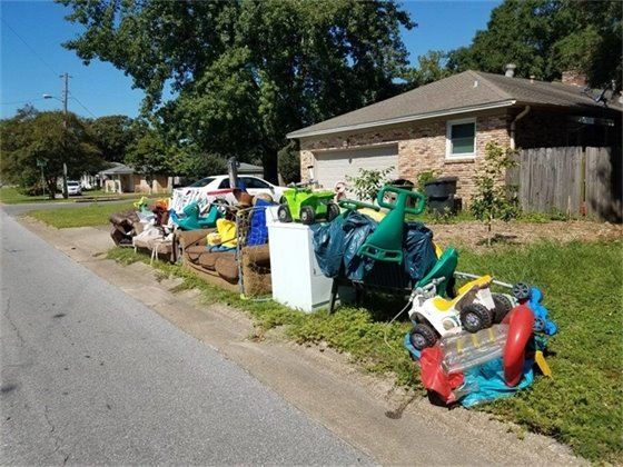 Toys and furniture left at the curb to be picked up