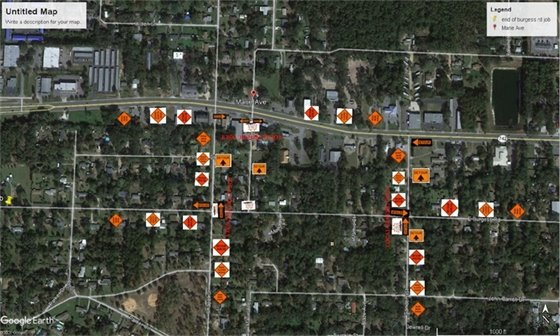 Road closure map