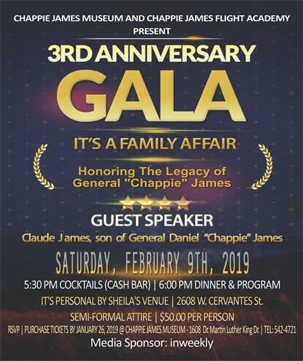 informational flier about the gala