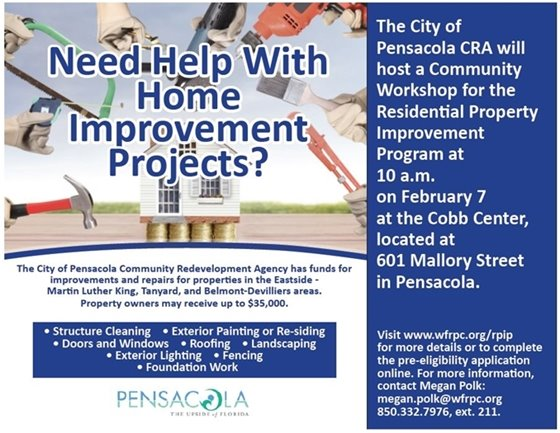 Informational flier on community workshop
