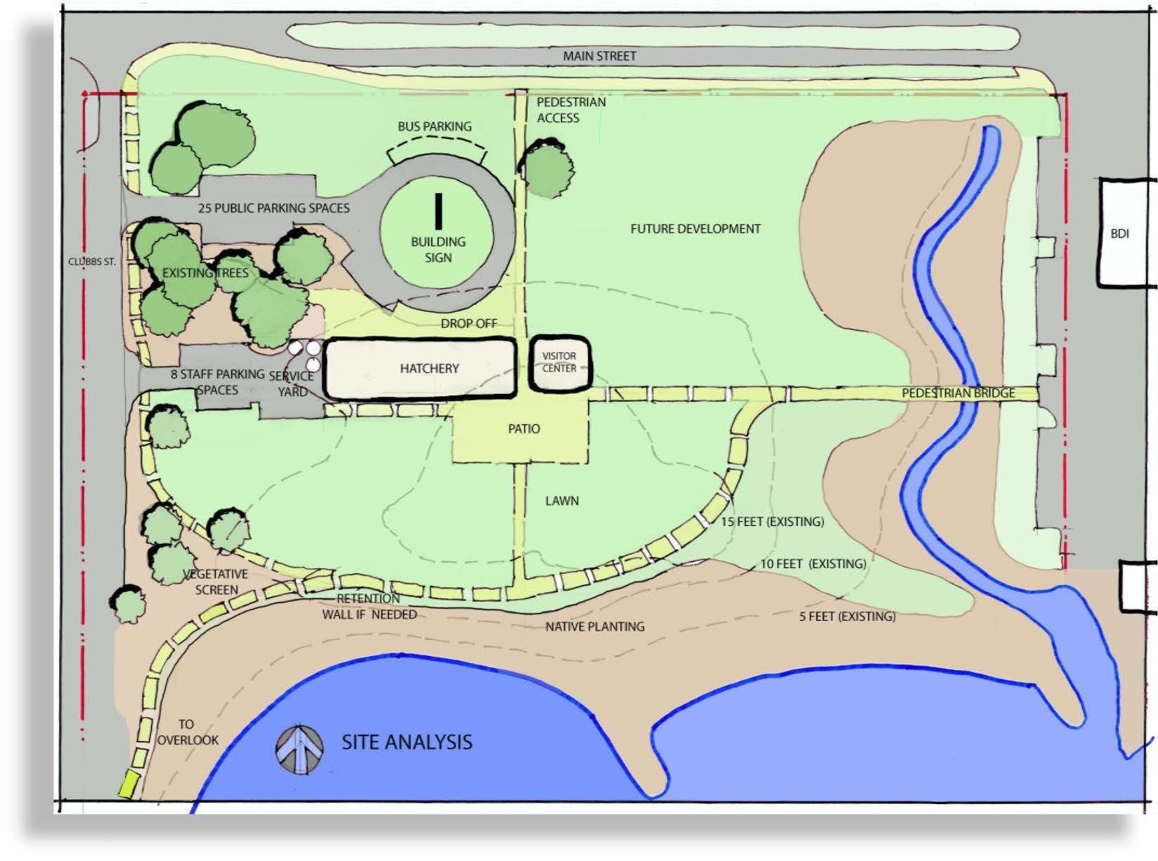 hatchery site conceptual plan