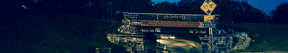Pensacola Graffiti Bridge at night