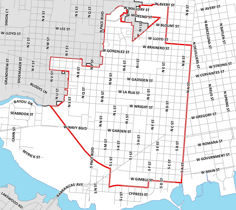 Community Redevelopment Area Maps | City of Pensacola, Florida ... on