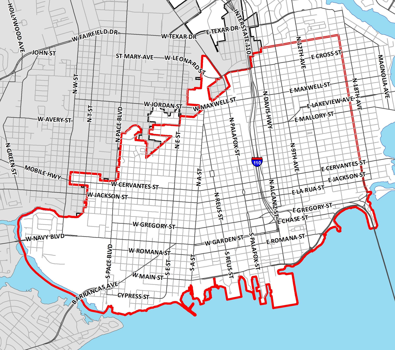City Street Map Pensacola Florida
