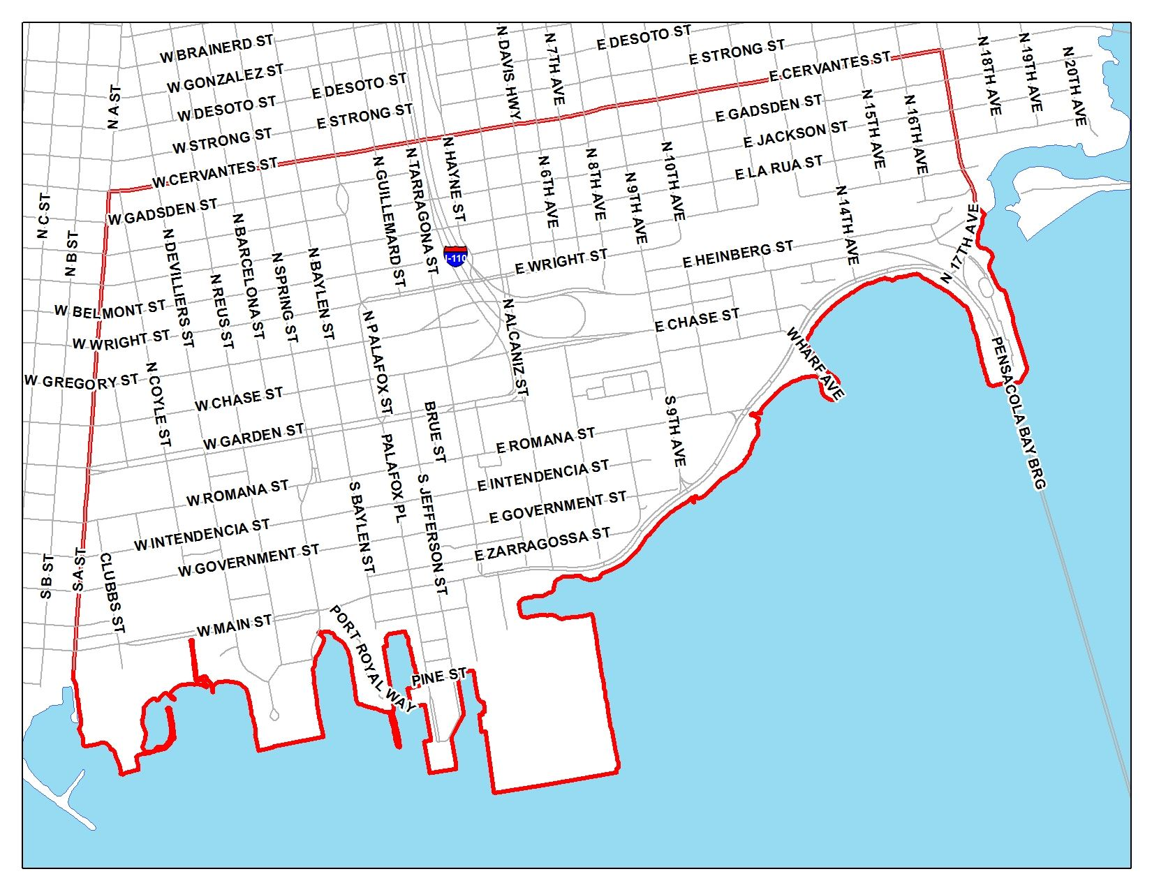 Map Of Pensacola Community Redevelopment Area Maps | City of Pensacola, Florida