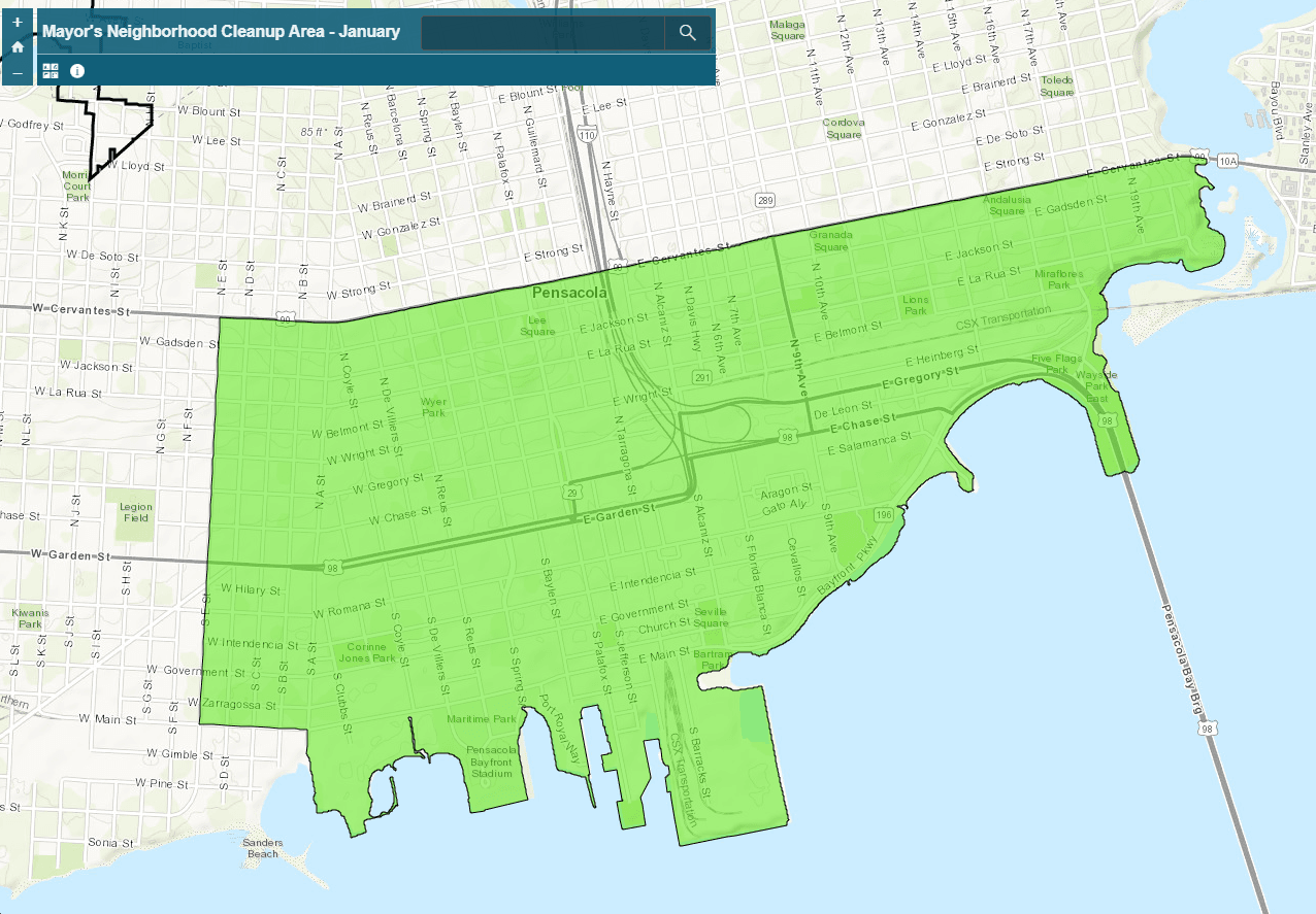 Mayors Neighborhood Cleanup Map January 2020