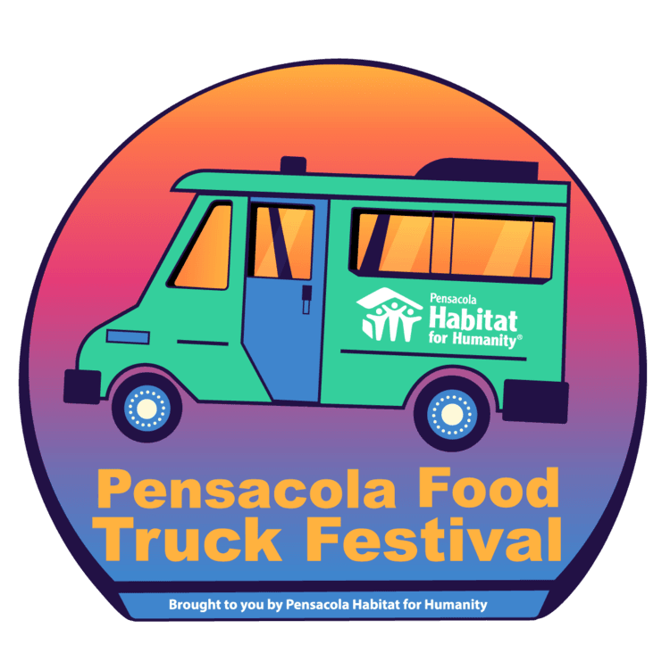 Food Truck Fest logo with Truck in background