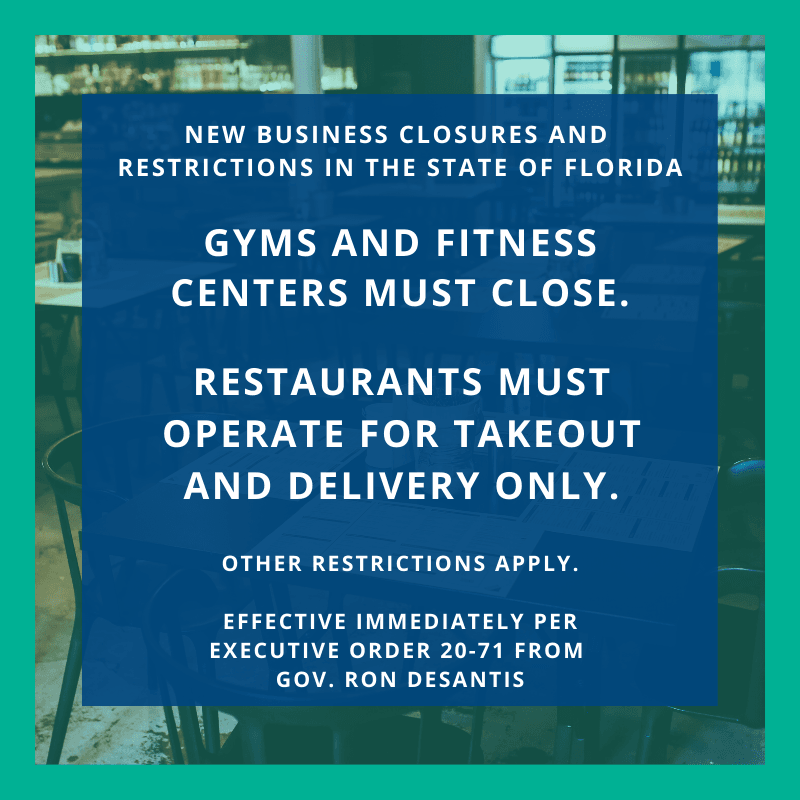 business restrictions from Governor Ron DeSantis
