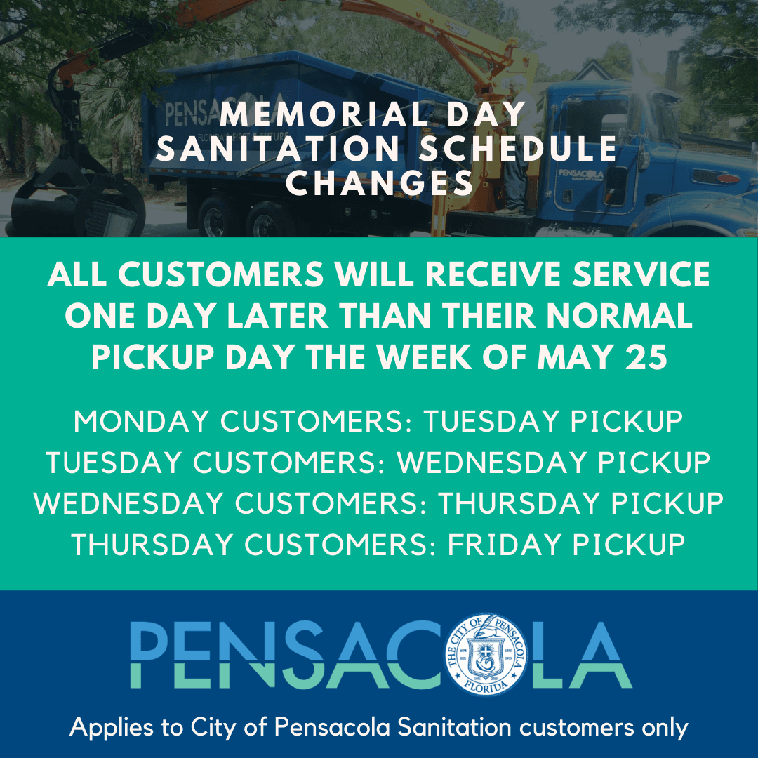 Memorial Day Sanitation Changes_