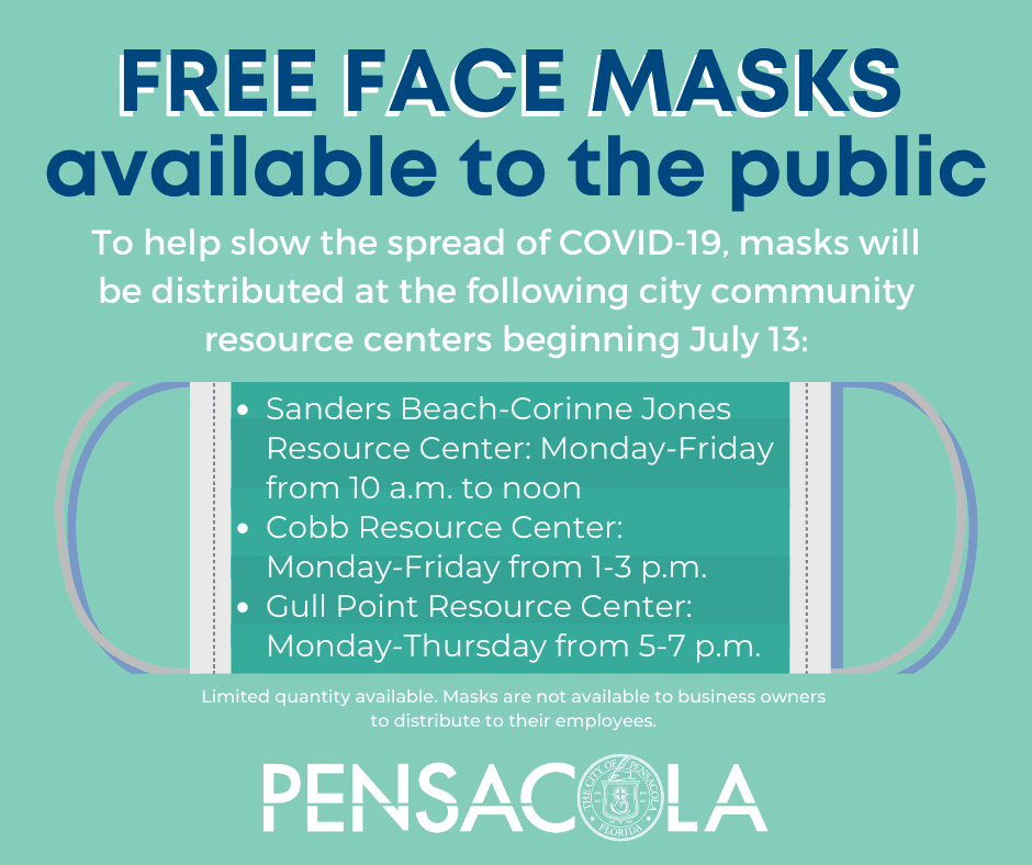 In an effort to help slow the spread of COVID-19, the City of Pensacola is making 20,000 masks avail