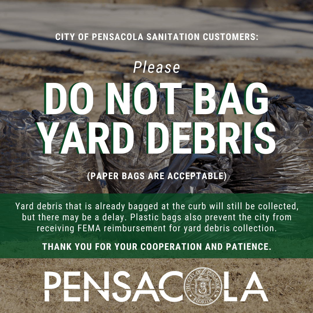 Please do not bag yard debris