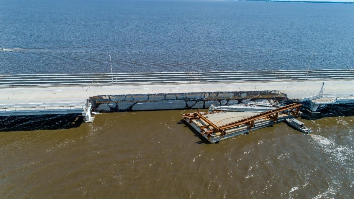 Pensacola Bay Bridge damage