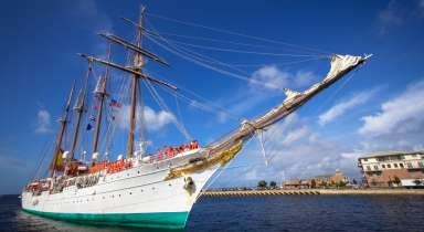 Spanish tall ship JUAN SEBASTIAN de ELCANO