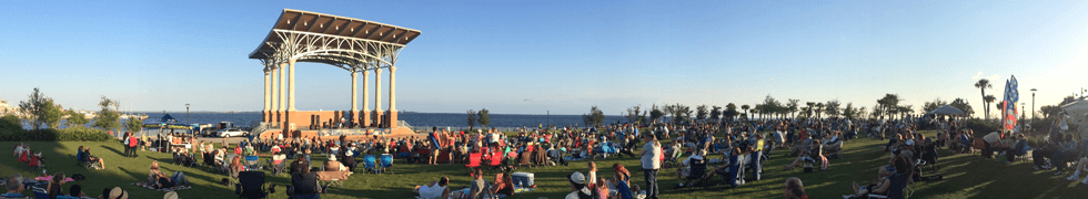 Concert being held at the Community Maritime Park