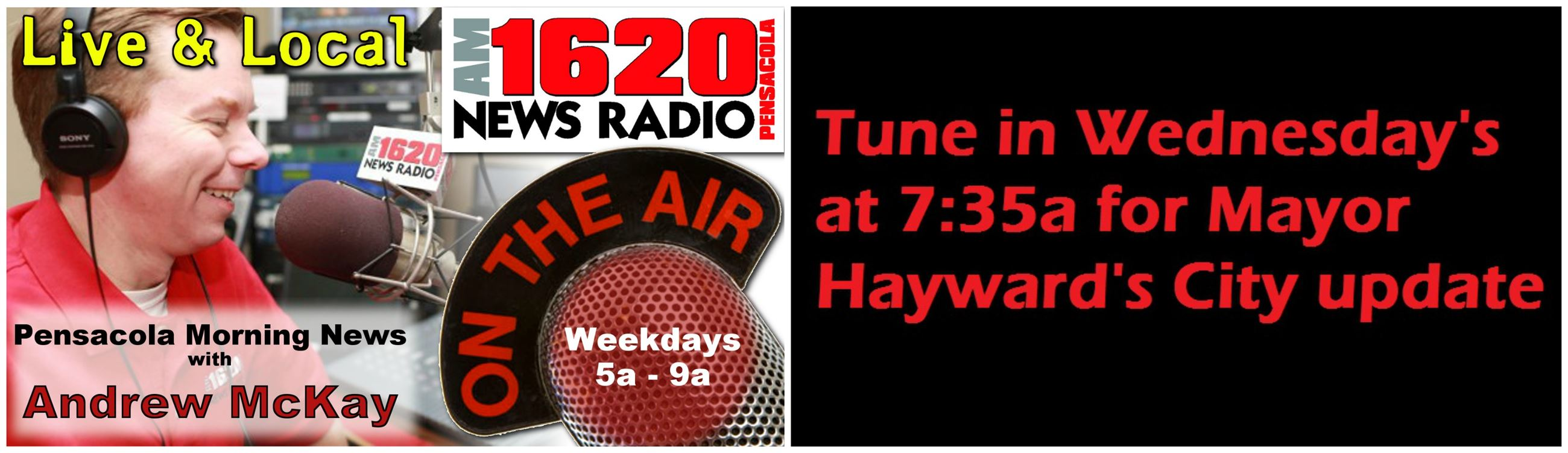 Join the Mayor on NewsRadio 1620AM Wednesdays at 7:30am