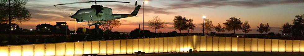 Veterans Memorial Park at Night