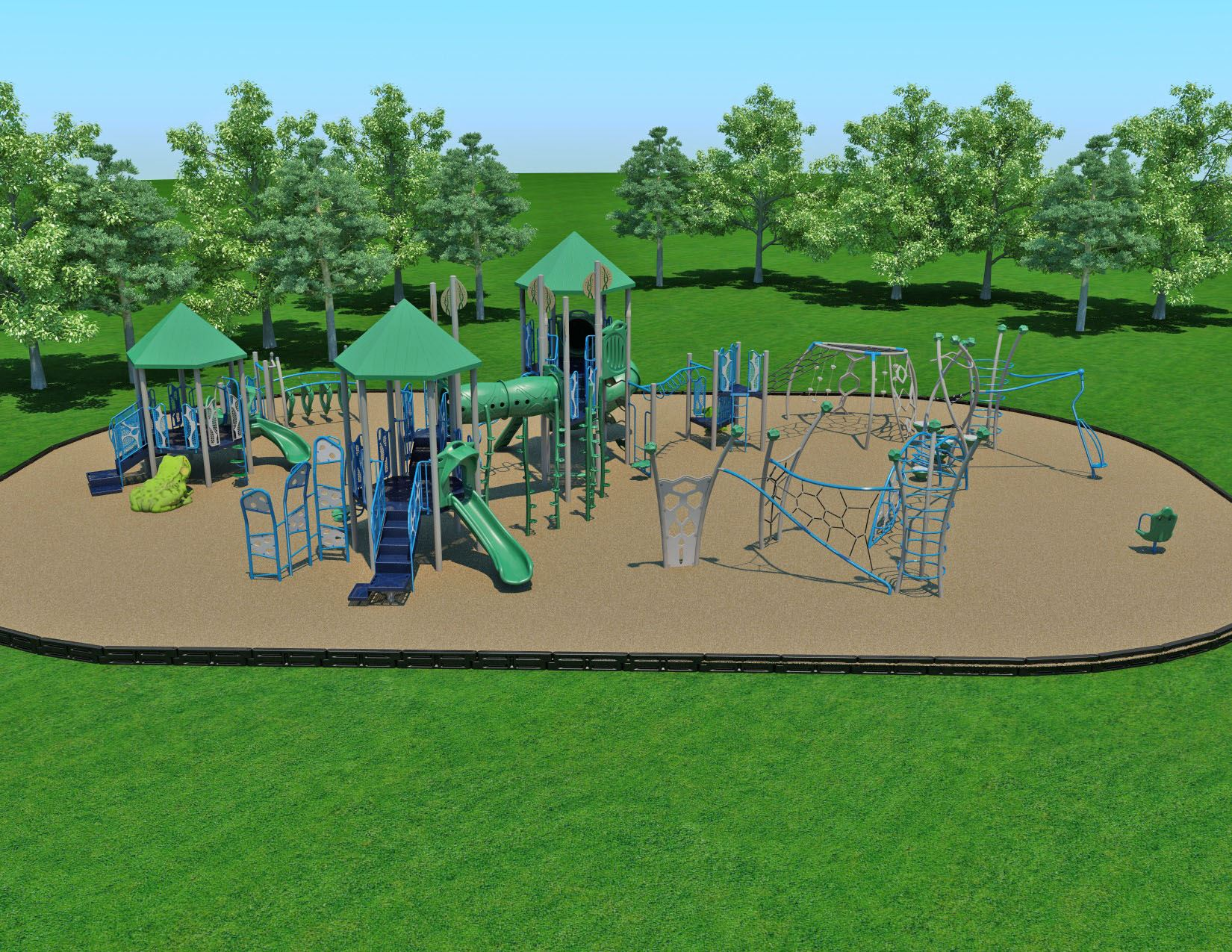 Armstrong Park artist rendering of playground