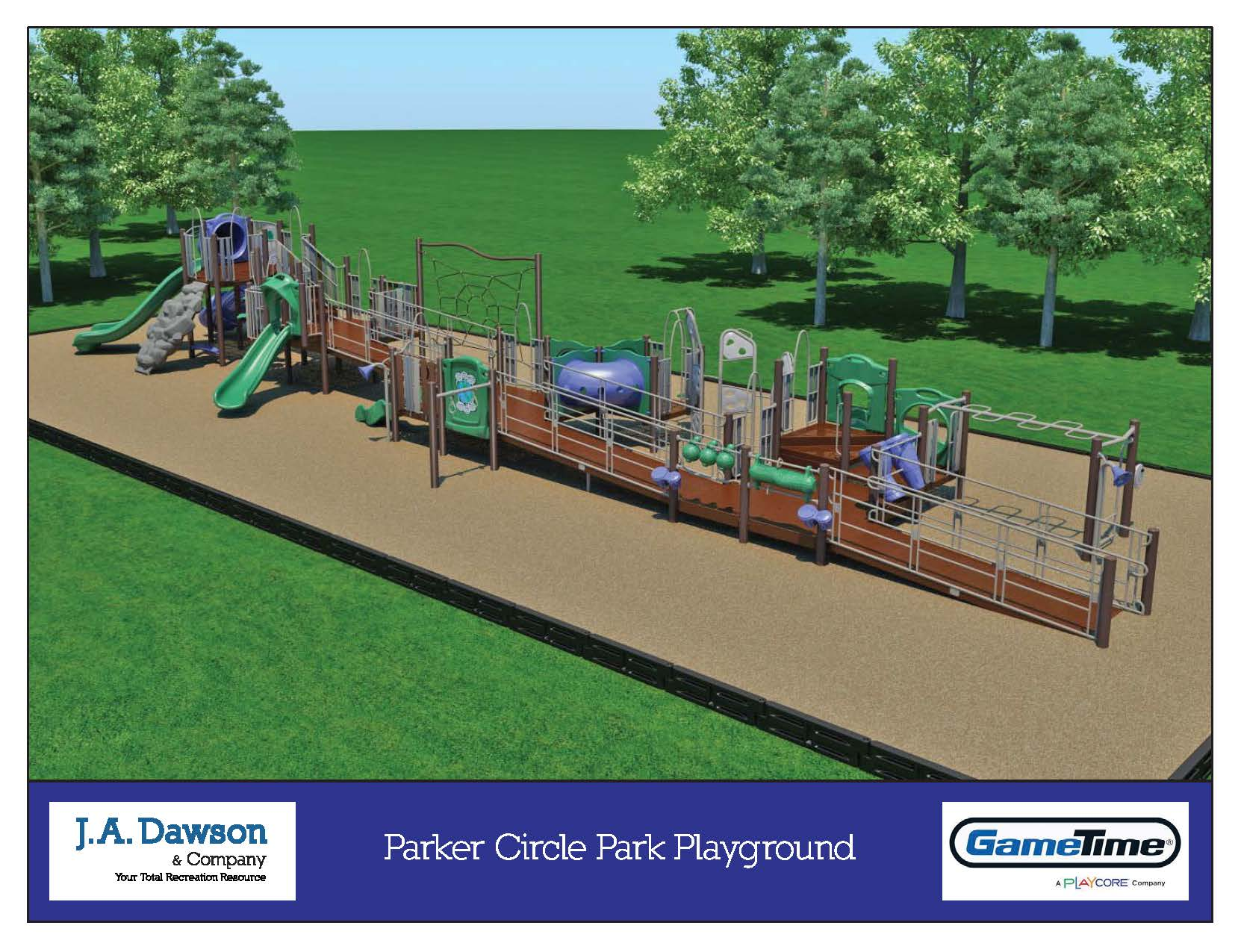 Parker Circle playground rendering