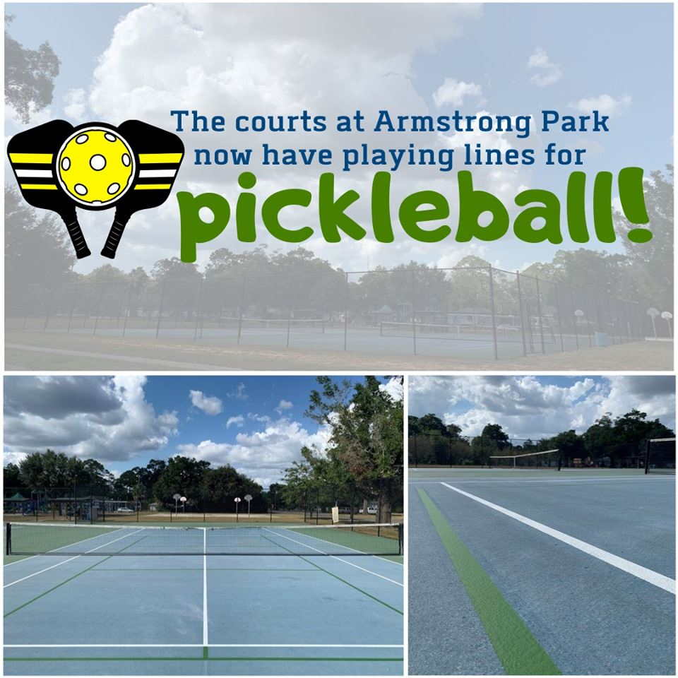 Pickleball lines at Armstrong Park