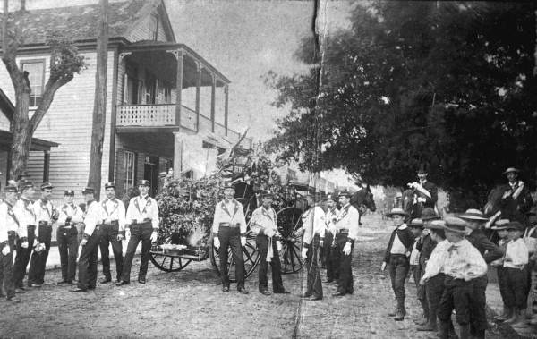 Volunteer firefighter company, circa 1892