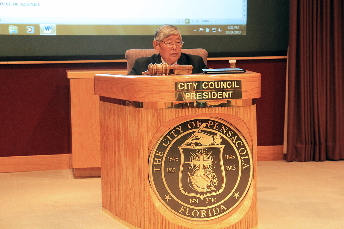Councilman Wu serving as City Council President