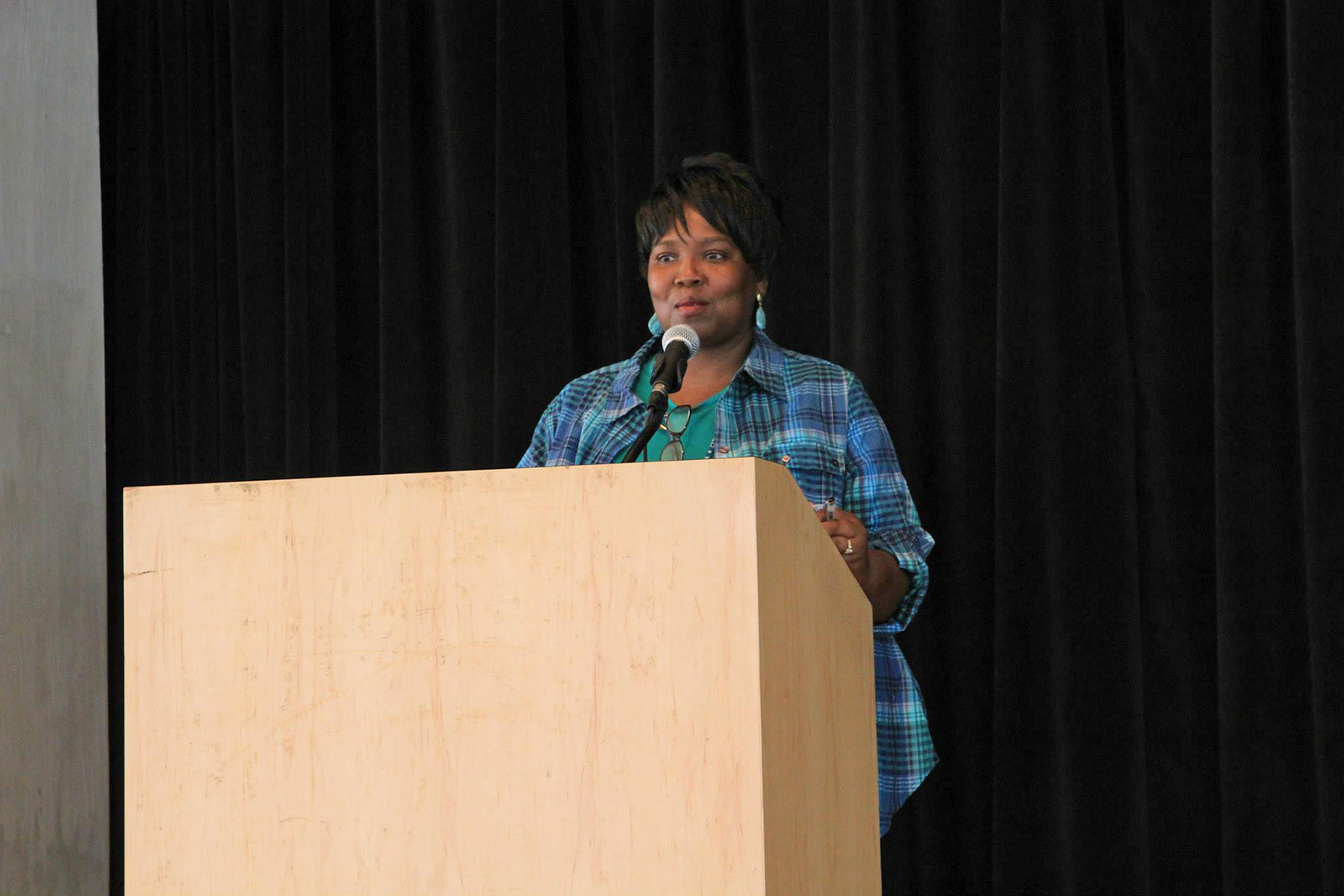 Councilwoman Cannada-Wynn at the Living Shores Workshop, September 2013