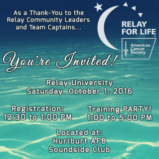 Relay for Life University Party Banner