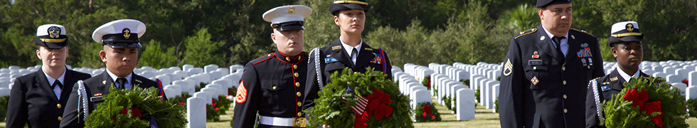 Standing at Attention during Wreaths Across America 2015