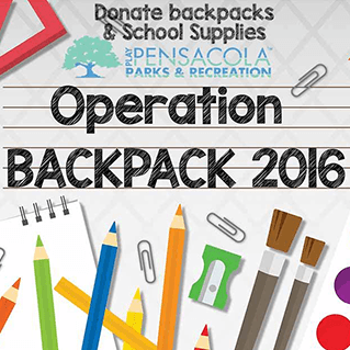 Operation Backpack Parks and Rec thru July 29, 2016