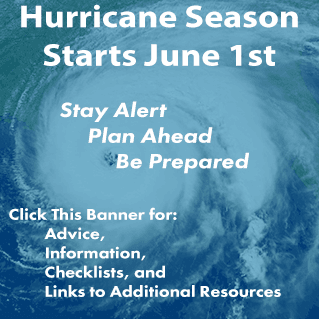 Hurricane Season Starts June 1st, be prepared!