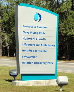Signage for the Pensacola Aviation Discovery Park