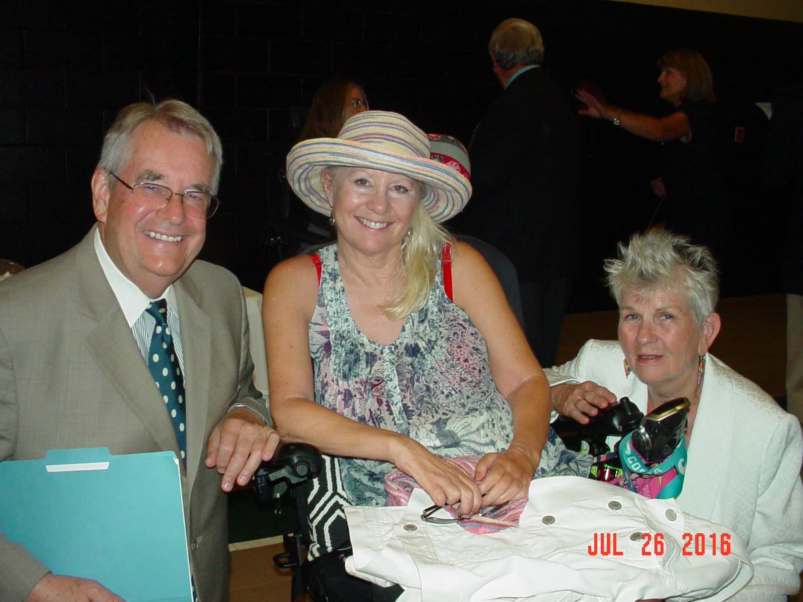 Sen Don Gaetz, Kelly Gordon and Councilwoman Sherri Myers at the 26th Anniversary Celebration of the