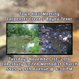 Carpenter Creek Meeting on November 6th at Cokesbury UMC